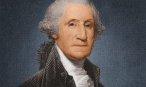 """Washington: """"(The U.S.A.) can never be in danger of degenerating into a(n)... oppressive form so long as there shall remain any virtue in the body of the people."""""""