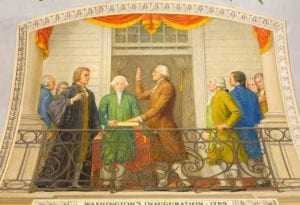 Inauguration of President Washington: He Gives a Religious Address and Places Hand on Bible Verse Prophesying America as a Covenant Nation?