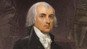 """James Madison: """"The civil rights of none shall be abridged on account of religious belief or worship, nor shall any national religion be established..."""""""