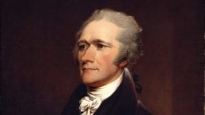 """Alexander Hamilton, Secretary of The Treasury, Brings about the Creation of the Nations First, """"Bank of The United States"""""""