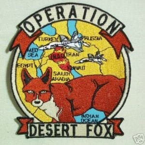 Operation Desert Fox: US and UK Bomb Iraq / Saddam. Huma Abedin, Hillary's former Closest Aid Claimed the Attack was to Deflect from the Monica Lewinsky Affair