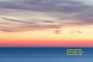 ABC57 Claims a Picture of the Chicago Skyline that should be Hidden by the Earth's Curvature at nearly 60 Miles is a Mirage