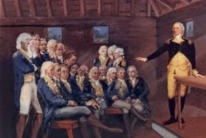 """George Washington to Officers: """"the freedom of Speech may be taken away, and, dumb and silent we may be led, like sheep, to the Slaughter"""""""