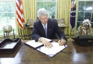President Bill Clinton signed the American Safe Families Act (AFSA)